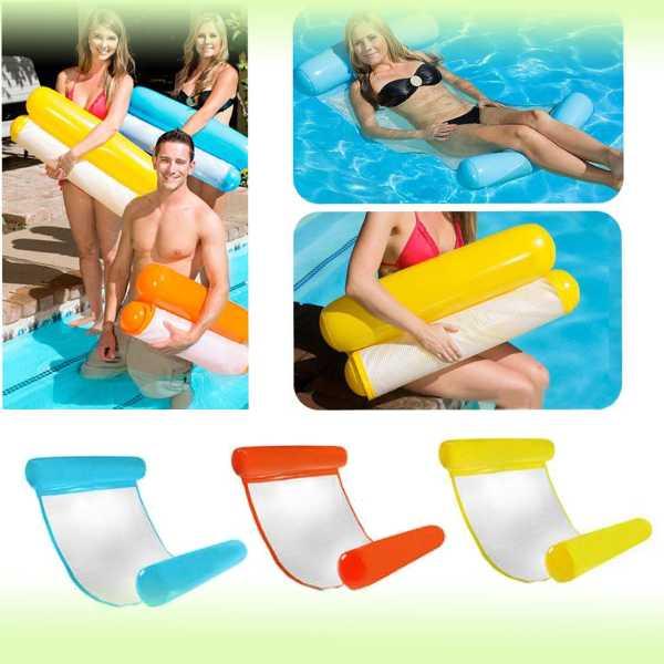 Надувной шезлонг-гамак для плавания Floating Bed, 130х73 см
