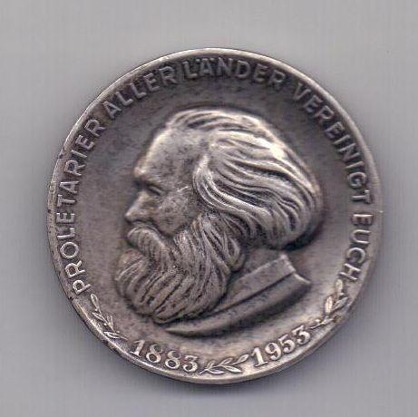 медаль 1953 года AUNC Карл Маркс Германия