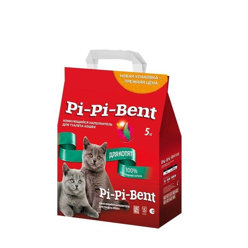 Пи-Пи-Бент Наполнитель д/котят комкующийся 5 кг.