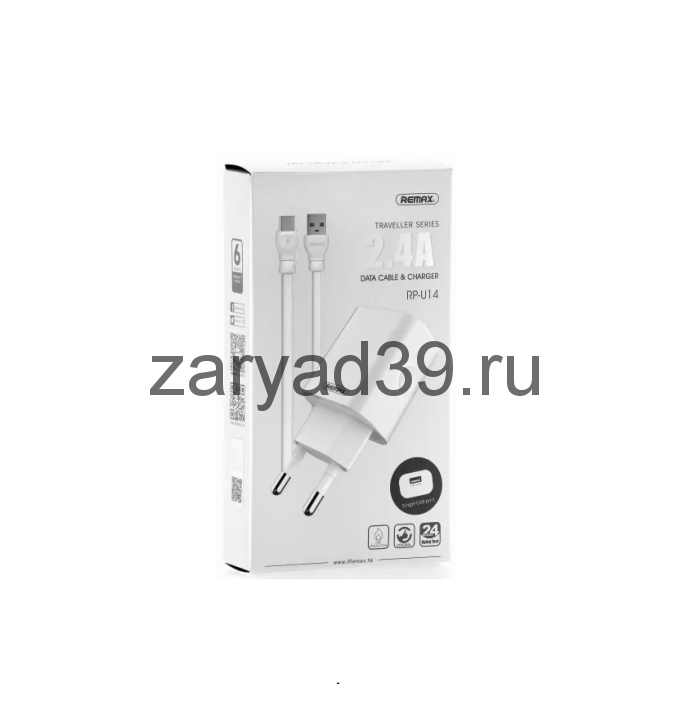 Сетевое зарядное устройство Remax Type - C 2.4A RP - U14