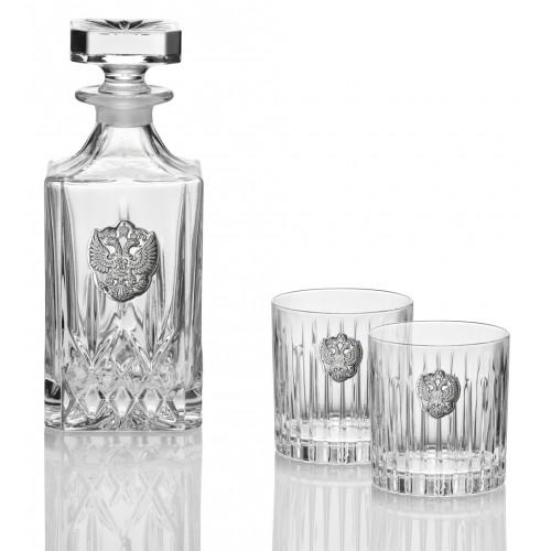 Комплект для виски графин + 2 стакана (Италия)