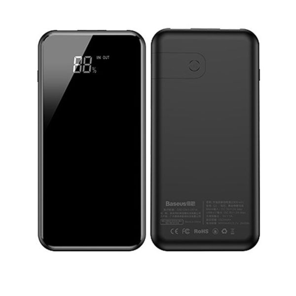 Внешний аккумулятор с беспроводной зарядкой Baseus Wireless Charge Power Bank 8000 mah черный (PPALL-EX01)