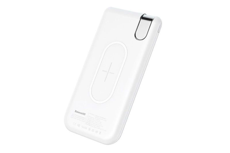 Беспроводная ЗУ Baseus Thin Version Werelees Charge Power Bank (10000 mAh) белая (PPALL-QY02)