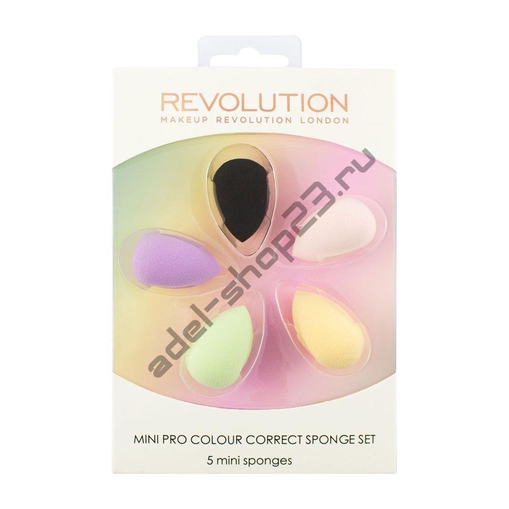 Revolution -набор спонжей Mini Pro Colour Correct Sponge Set
