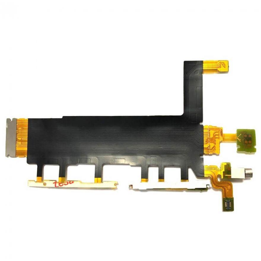 Шлейф  для Sony Xperia Z3 (D6633, Dual SIM) с кнопками громкости и включения, виброзвонком и микрофоном