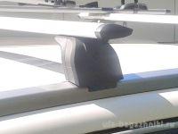 Багажник на крышу Geely Atlas 2017-..., Lux, крыловидные дуги на интегрированные рейлинги