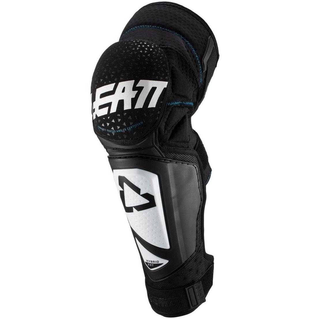 Leatt - 2019 3DF Hybrid EXT Knee & Shin Guard Black/White защита колен, черно-белая
