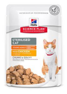 Hill's Science Plan Feline Sterilised with Chicken 12/85g