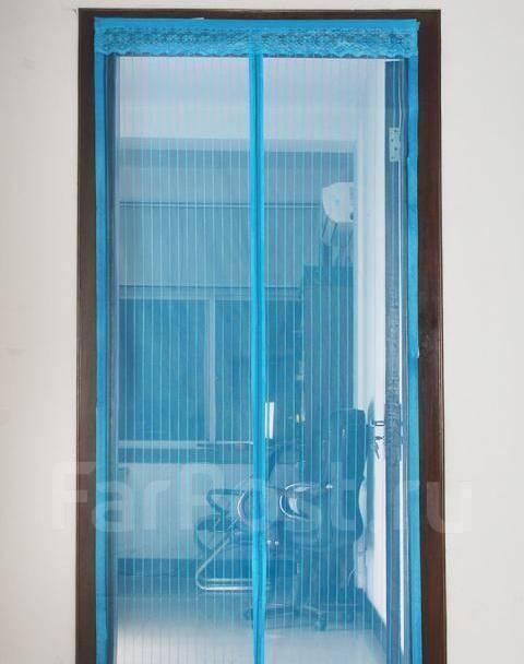 Москитная сетка на магнитах,  Цвет-Синий