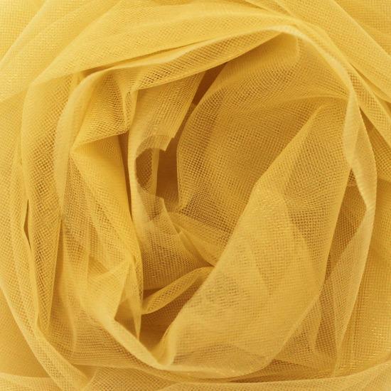 Мягкий фатин Пастель 300*25 - горчичный