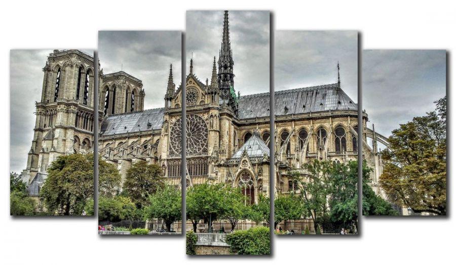 Модульная картина Собор Нотр Дам Де Пари