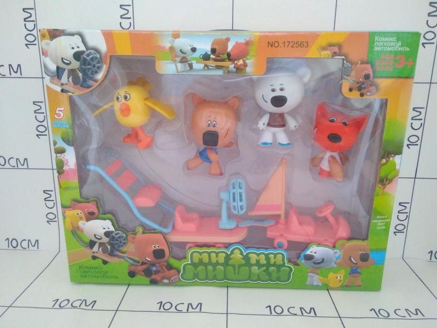 Ми-Ми-Мишки, набор из 4 героев с машинкой