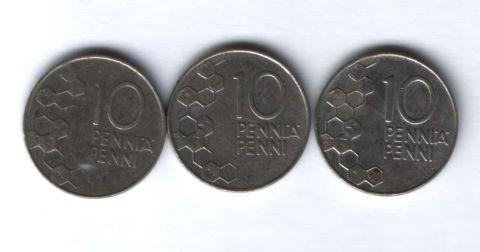 Набор монет Финляндия 1990-1992 гг. 3 шт.