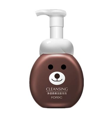 """Воздушная пенка-мусс """"Rorec"""" для очищения лица с яблоком  - Медведь.(6416)"""