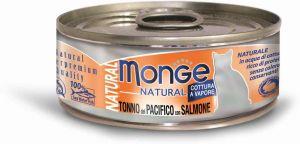 Monge Cat Natural консервы для кошек тихоокеанский тунец с лососем 80 гр.
