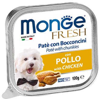 Monge Dog Fresh консервы для собак курица 100 гр.