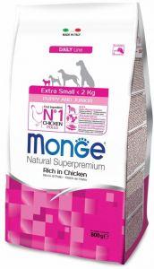 Monge Dog Extra Small корм для щенков миниатюрных пород с курицей 800г