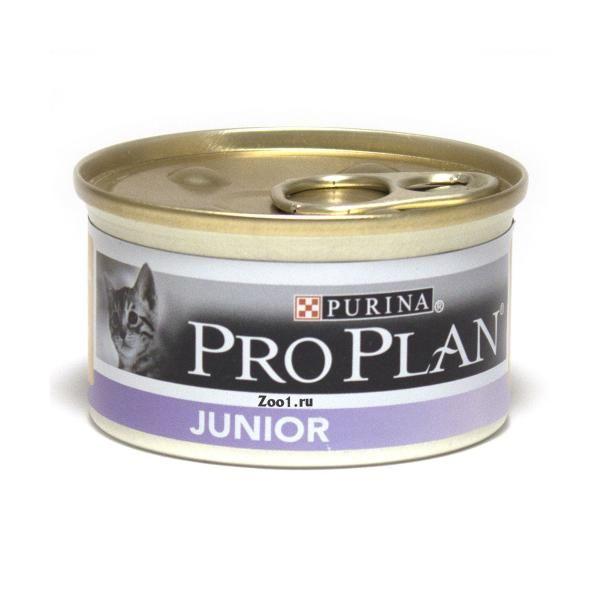 Консервы Pro Plan мусс для котят с курицей 85 гр.