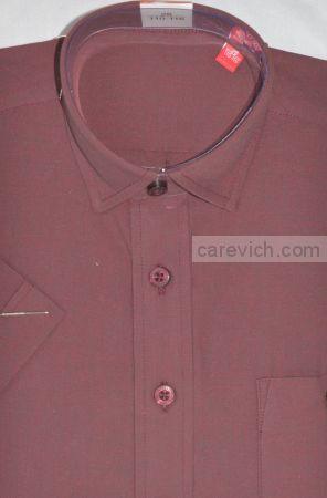 Рубашка с коротким рукавом, оптом 10 шт., артикул: Maroon-к