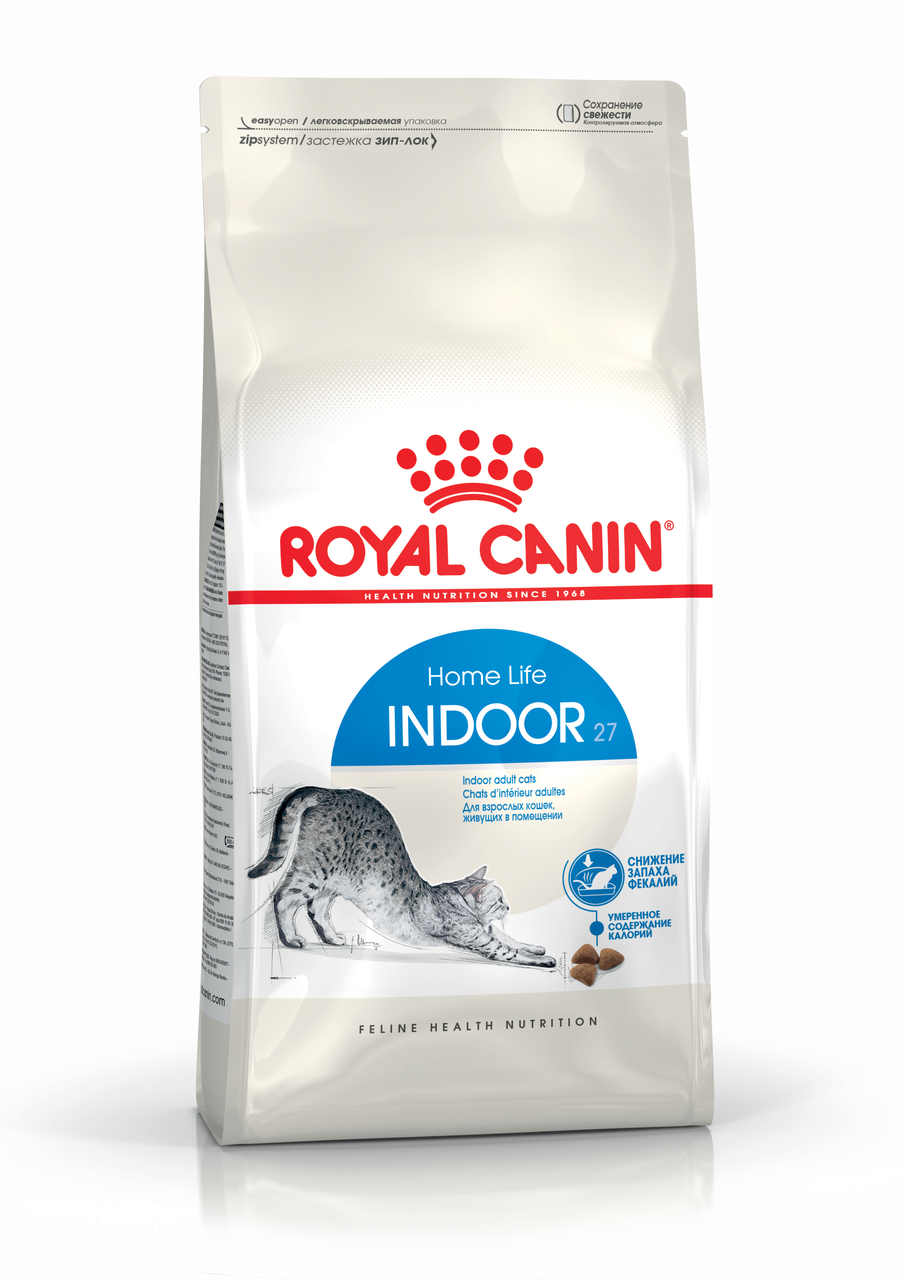 Корм сухой Royal Canin Indoor 27 для кошек с птицей