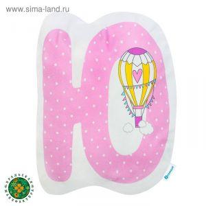 """Подушка """"Крошка Я"""" Ю, 40х46 см, розовый, велюр, 100% п/э   4125412"""