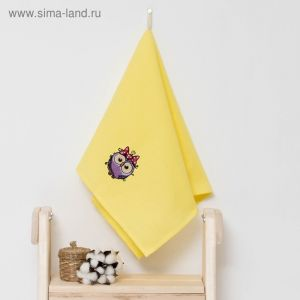 """Полотенце детское """"Доляна"""" Совушка, цвет солнечный 40х70 см, 100% хлопок, 150 г/м?"""