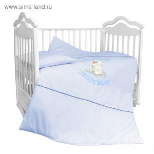 """Детское постельное бельё """"Тэдди Бир"""" (3 предметов), цвет голубой 2282 2004657"""