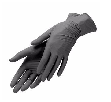 Перчатки нитриловые  черные, размер S, (100 шт)