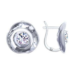Серьги из серебра с фианитами 8-94020001 SOKOLOV