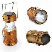 Складной кемпинговый фонарь 3-в-1, 14 см, цвет золотистый (1)
