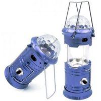 Фонарь кемпинговый с диско-шаром складной (цвет синий)_1