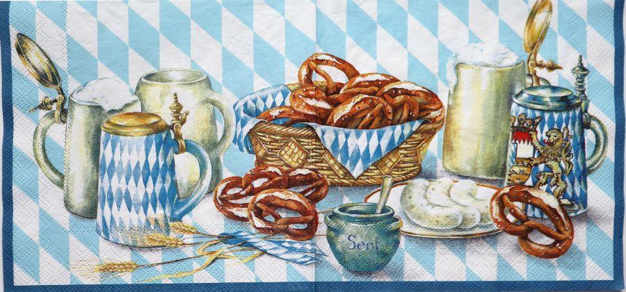 Салфетка бумажная 30*30 Немецкий пикник