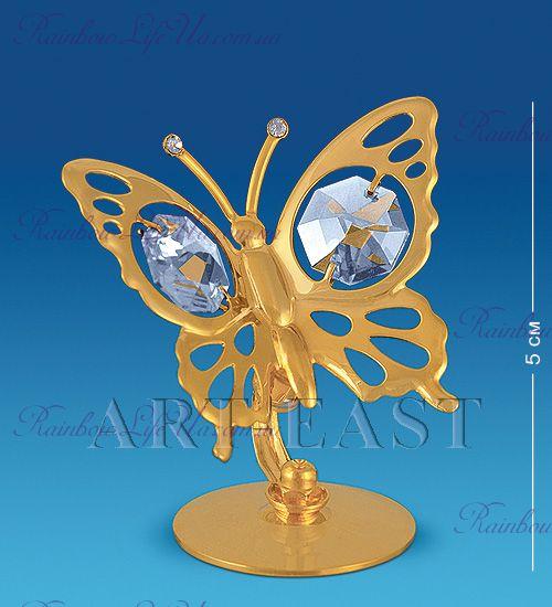 """Фигурка бабочка с камнями """"Swarovski"""""""