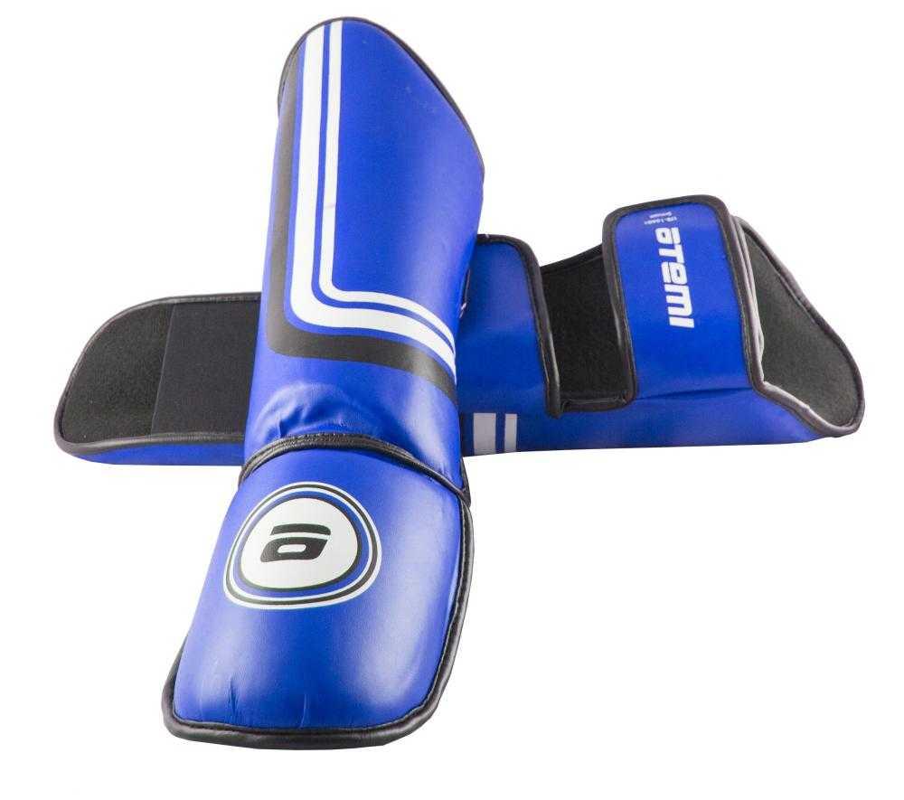 Комплект защиты голени и стопы Atemi LTB-16601 синий