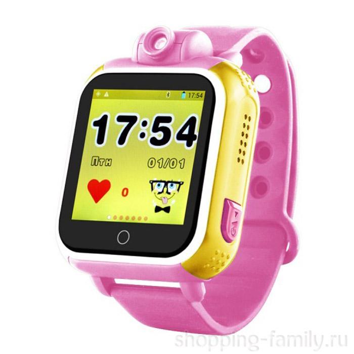 Умные детские GPS часы Smart Baby Watch Q75 GW1000 , Цвет Жёлто-розовый
