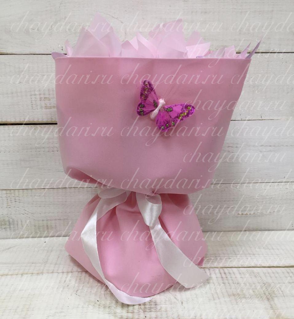 """Букет из чая """"Розовый фламинго"""""""