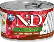 Farmina N&D Quinoa Консервы для собак мелких пород с киноа, оленина и кокос 140г