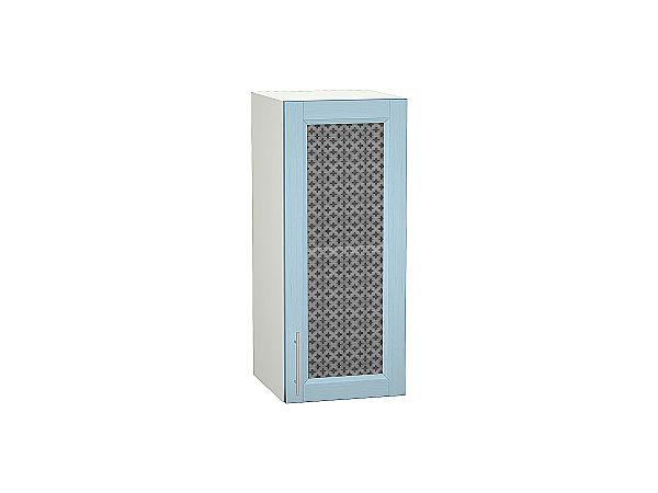 Шкаф верхний Сканди В300 со стеклом Sky Wood