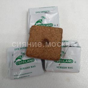 Субстрат кокосовый Cocoland в кубиках для рассады 10х10. 1 шт.
