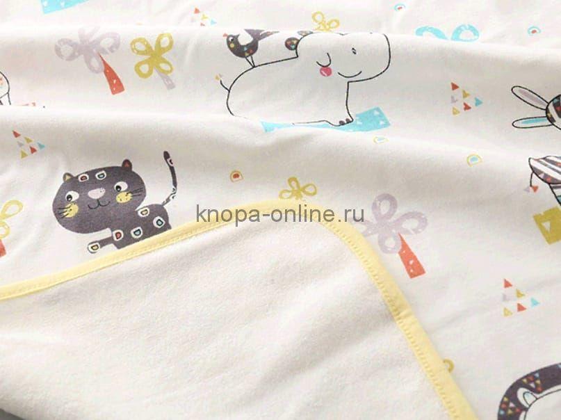 Двусторонняя непромокаемая пеленка - Кот и слон (60х90)