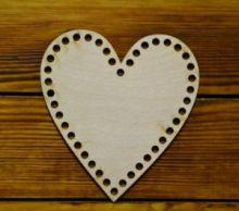 """Дно для корзинки из трикотажной пряжи """"Сердце"""" 24-295"""