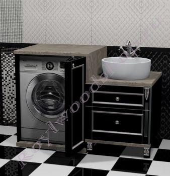 """Тумба под стиральную машину """" PROVENCE """"Эрго-120 черный"""""""