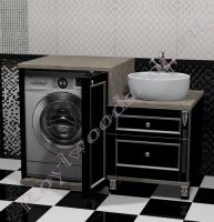 Тумба под стиральную машину с правой раковиной