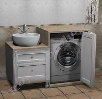 Мойдодыр со стиральной машиной белый