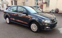 Аренда авто Volkswagen Polo 2019 г. черного цвета в Москве