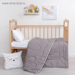 Одеяло Крошка Я «Полоски» цв. серый, 110*140 см, хлопок/синтепон   4223977