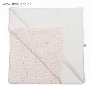 """Плед """"Мармеладик"""", размер 90х90 см, розовый, плюш, интерлок-пенье, хл100% 583/2   3594865"""
