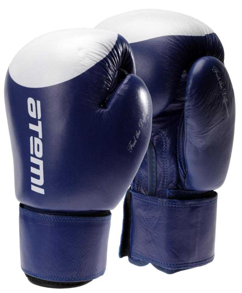 Перчатки боксерские ATEMI сине-белые LTB19009