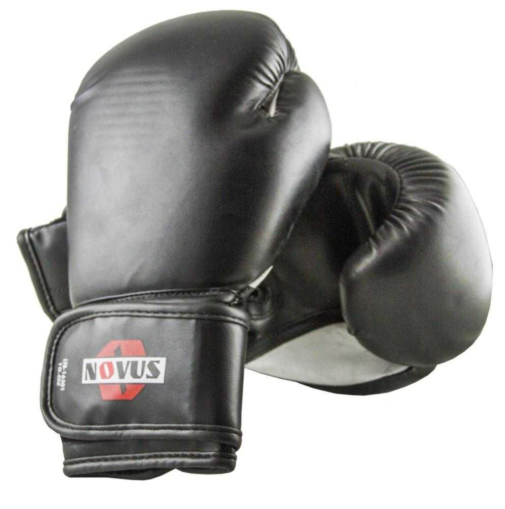 Перчатки боксерские Novus черные LTB-16301