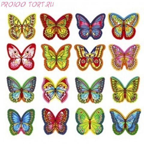 Вафельные бабочки 10шт/уп